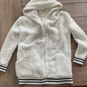 Cozy hooded Sherpa Jacket